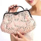 Toyofmine Women's Evening Bag Beaded Sequin Kiss-lock Wedding Party Clutch Handbags