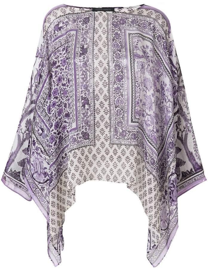 Alberta Ferretti printed draped blouse