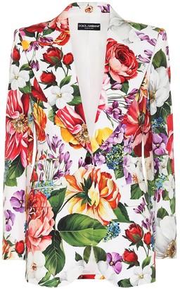 Dolce & Gabbana Floral stretch-cotton blazer