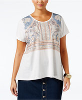 Style&Co. Style & Co. Plus Size Boho-Print Top, Only at Macy's