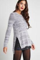 BCBGeneration Textured Side-Slit Pullover