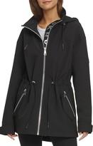 DKNY Hooded Mesh Back Anorak Jacket