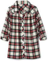 Gap Plaid flannel ruffle shirtdress