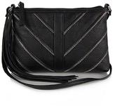 Black Chevron Top-Zip Crossbody Bag