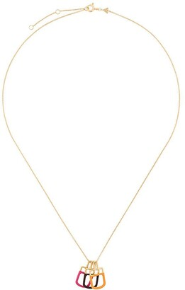 ALIITA 9kt yellow gold trio Ice Pop necklace