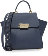 Zac Posen Eartha Iconic Top Handle Bag with Floral Strap