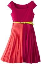 Bonnie Jean Girls 7-16 Fuchsia Colorblock Dress