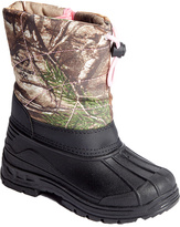 Green Camouflage Snow Boot - Girls
