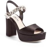 Miu Miu Women's Crystal Embellished Platform Sandal