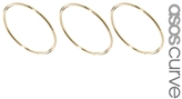 Asos Multipack of Three Fine Rings