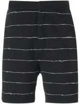 Alexander Wang scribble print track shorts