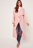 Missguided Oversized Waterfall Duster Coat Pink