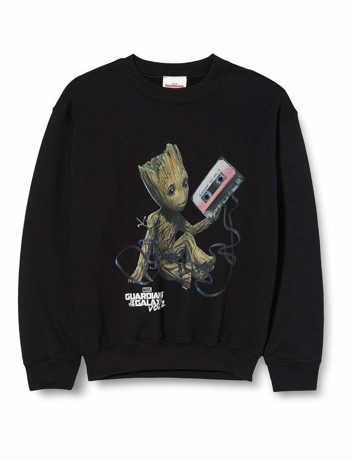 Marvel Girl's Guardians of The Galaxy Vol2 Groot Tape Sweatshirt