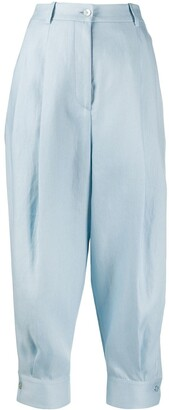 Emilio Pucci Tapered Cropped Trousers