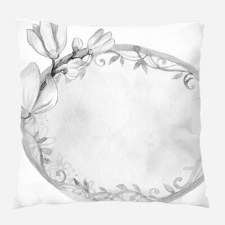 PARADISO Label Throw Pillow Ebern Designs CoverAMaterial: Microsuede, Location: Indoor