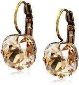 "Liz Palacios Arco Iris"" Swarovski Elements Golden Shadow Earrings"