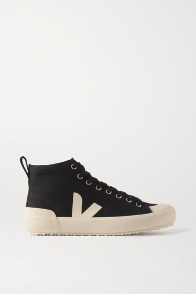 Veja Nova Ht Organic Cotton-canvas High-top Sneakers - Black