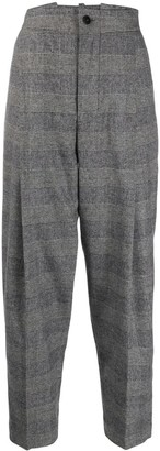 Barena Glen check tapered trousers