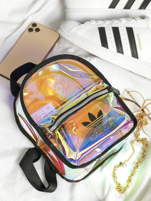 adidas Iridescent Mini Backpack in Clear