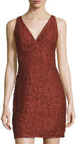 Romeo & Juliet Couture V-Neck Lace Sheath Dress, Rust