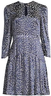 Rebecca Taylor Autumn Bloom Long-Sleeve Dress