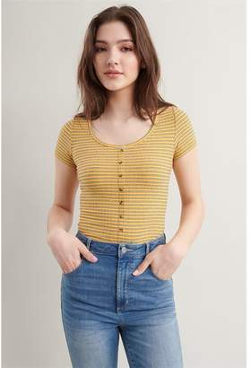 Garage Button Down Ribbed Tee - FINAL SALE