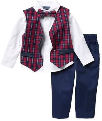 Nautica Holiday Tartan Vest 4-Piece Set (Baby Boys 12-24M)
