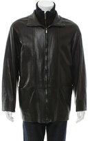 Bally Leather Zip-Up Jacket