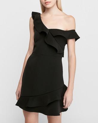 Express Off The Shoulder Ruffle Sheath Dress