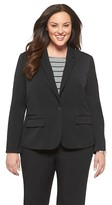 Merona Women's Plus Size Twill Blazer
