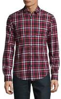 HUGO BOSS Checkered Cotton Casual Button-Down Shirt