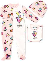 Moschino Kids - heart print pyjama - kids - Cotton/Spandex/Elastane - 6-9 mth