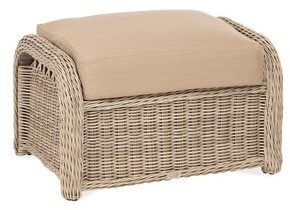 Darby Home Co Washtenaw Ottoman with Cushion Cushion Color: Dune