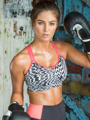 Pour Moi? Energy Underwired Lightly Padded Convertible Sports Bra - Black/White/Pink