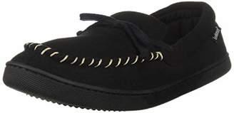 Isotoner Men's Memory Foam Blake Moccasin Slipper Faux Wool House Shoe