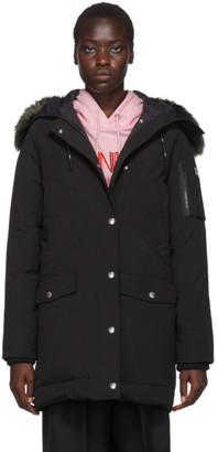 Kenzo Black Down Long Faux-Fur Hooded Jacket