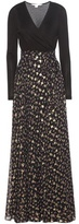 Diane von Furstenberg Aviva Fil Coupé Silk Wrap Dress