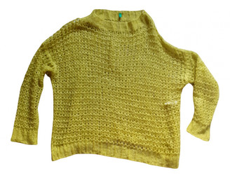 Benetton Yellow Synthetic Knitwear