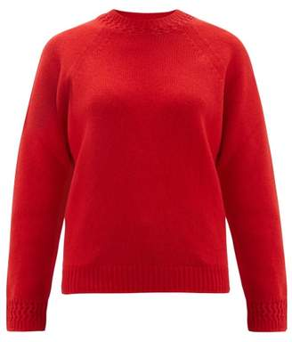 A.P.C. Janet Wool-blend Sweater - Womens - Red