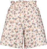 Mother of Pearl Terry printed cotton and silk-blend shorts