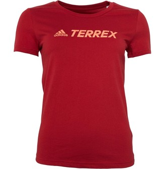 adidas Womens Terrex Climalite Top Active Maroon
