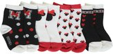 """Disney Minnie Mouse Baby Girls' """"Be Bold"""" 4-Pack Crew Socks"""