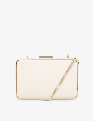 Dune Beat faux-leather clutch bag