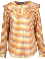 MiH Jeans Nikki Ruffled Checked Cotton-Blend Broadcloth Shirt
