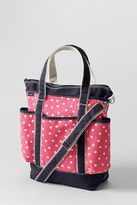 Lands' End Canvas Printed Diaper Bag with Changing Pad