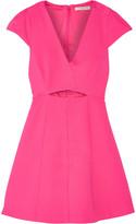 Halston Cutout stretch-jersey mini dress