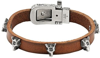Gucci Anger Forest leather bracelet