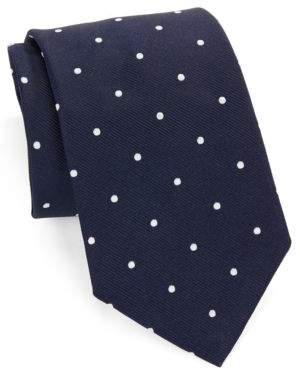 Brooks Brothers Classic Polka Dot Silk Tie