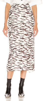 REJINA PYO Mina Skirt in Tiger Ivory   FWRD