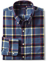Lands' End Men's Tall Traditional Fit No Iron Twill Shirt-Eggshell Tattersall